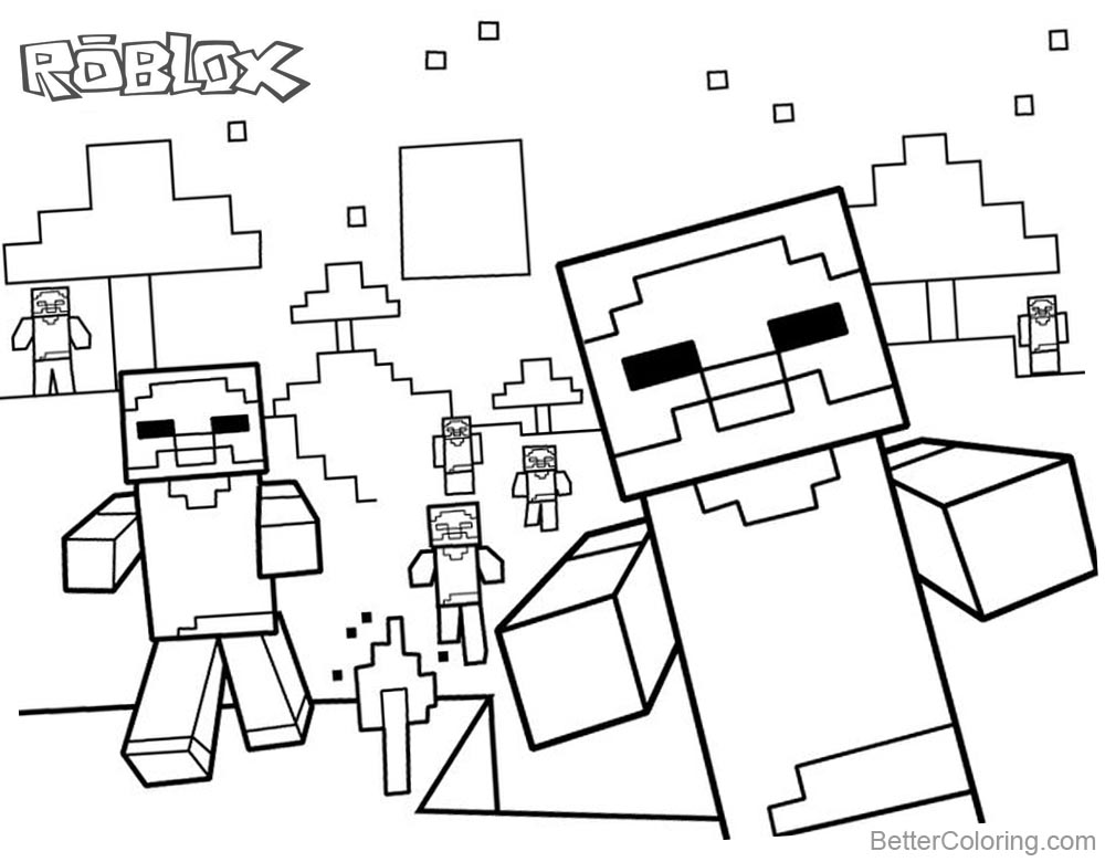 Noob Coloring Pages Coloring Pages