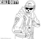 Coloriage Call Of Duty Ghost Call Duty Ghost Coloring Pages