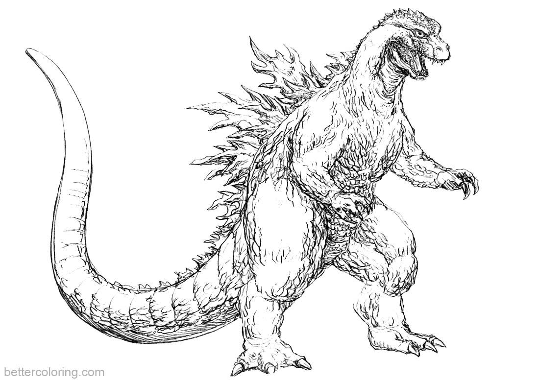 Godzilla Coloring Pages Fan Art Godzilla