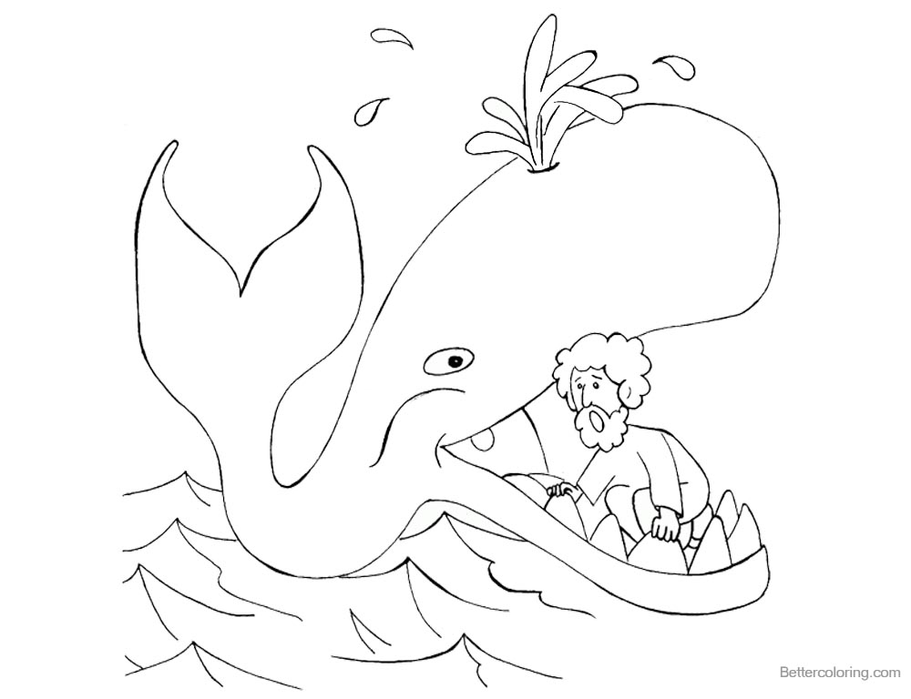 Free Jonah Coloring Page