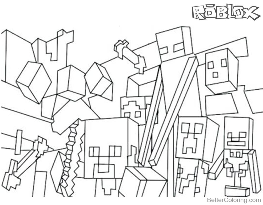 Print Roblox Build Coloring Pages Free Printable Coloring