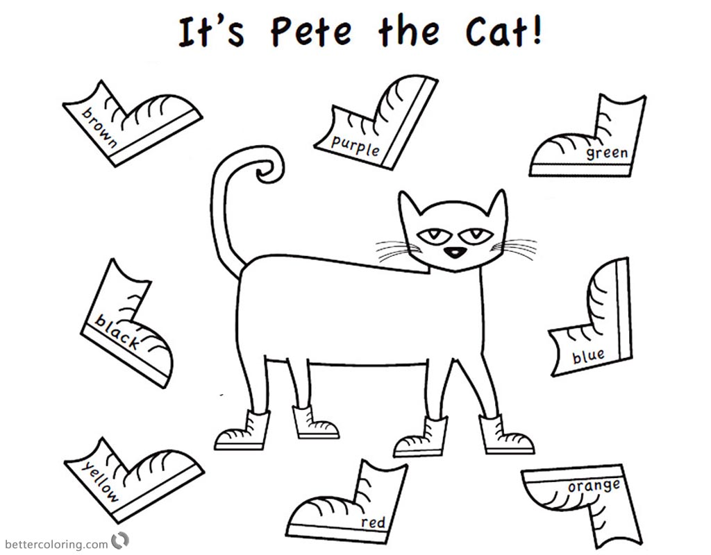 Pete The Cat Worksheet Cut Out