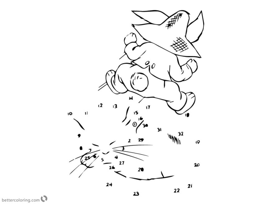 pete the cat coloring pages connect the dotsnumber