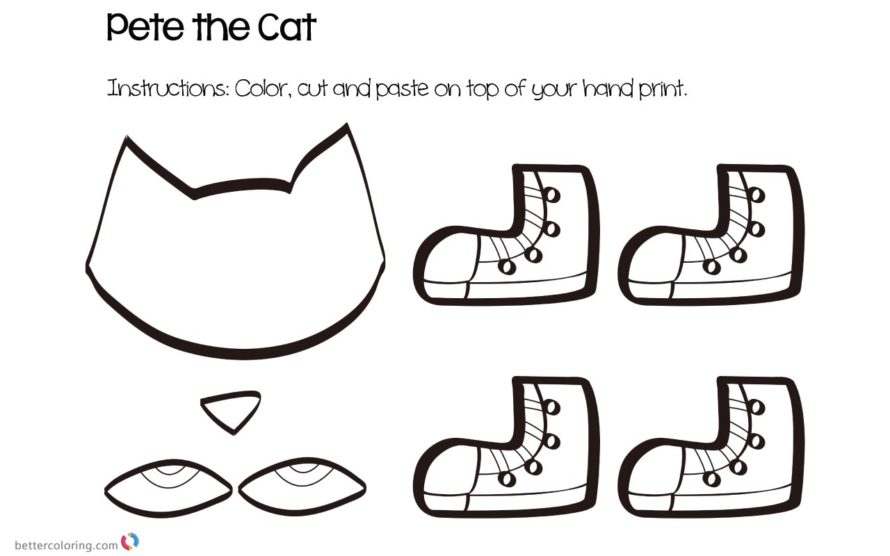 Pete The Cat Coloring Pages Crafts