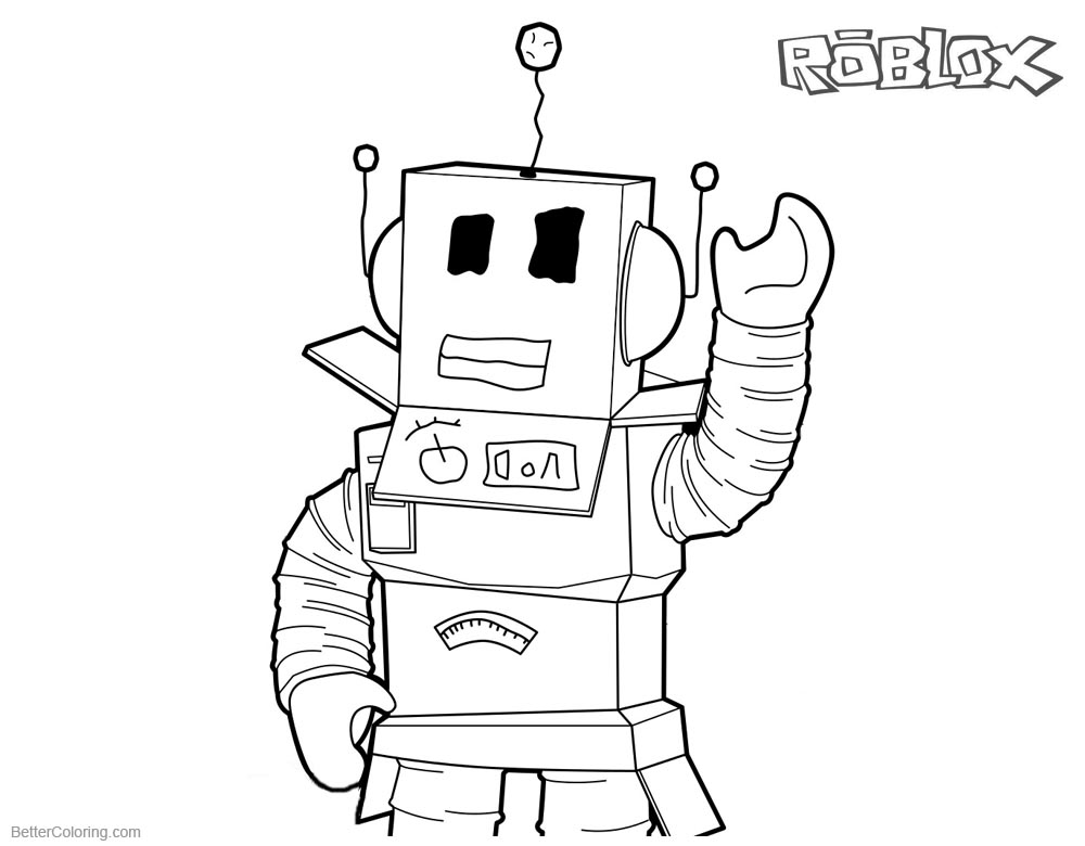 Roblox Noob Colouring Pages | Bux.gg How To Use