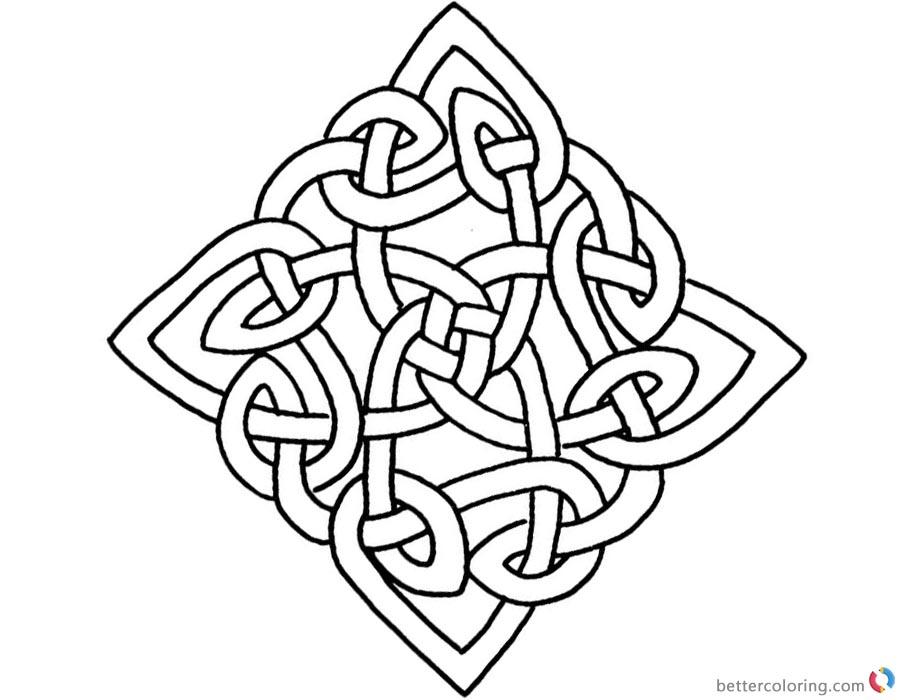 Celtic Triquetra Coloring Page
