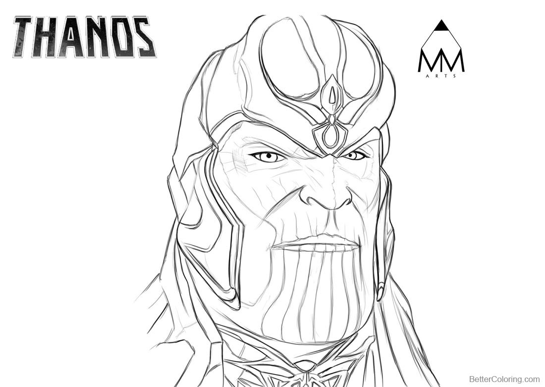 Thanos Coloring Pages By Mustafa Munir Arts Free