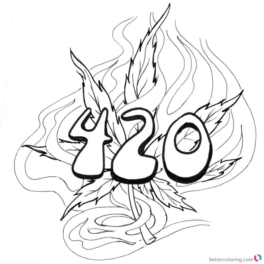 Weed Coloring Pages Ofertasvuelo