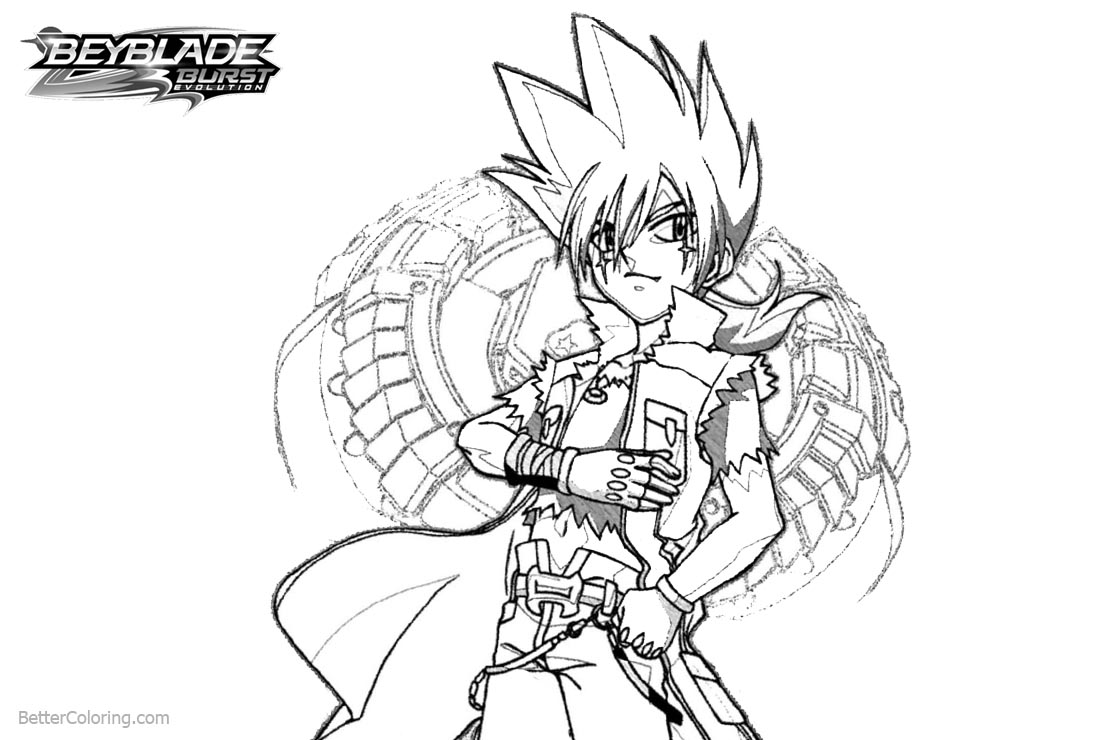 Amazing Beyblade Burst Coloring Pages Outline Drawing Free Arenda