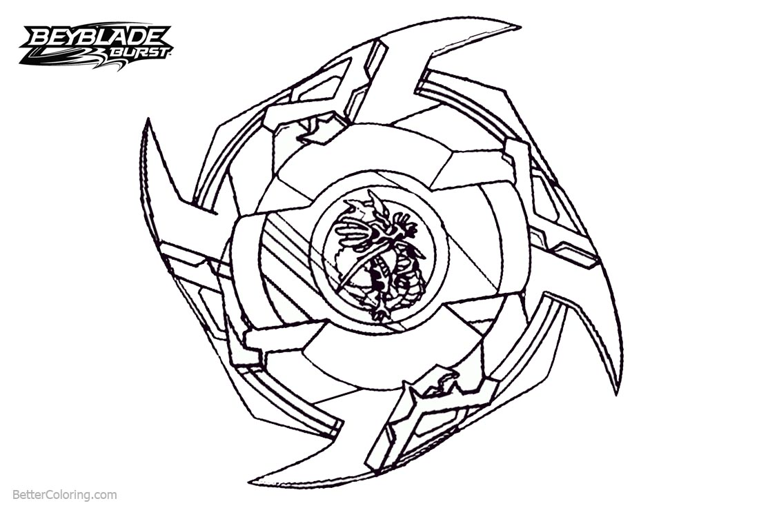 Beyblade Burst Evolution Character Coloring Pages