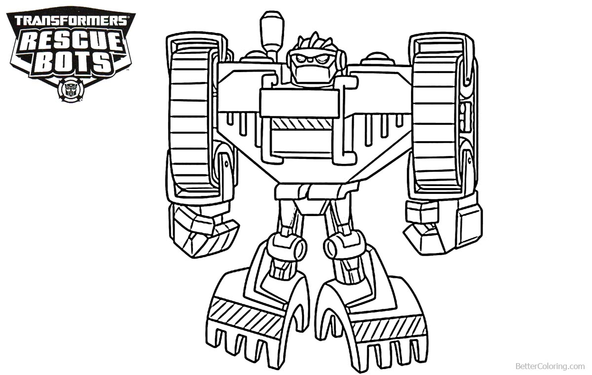 beautiful transformers rescue bots boulder coloring pages