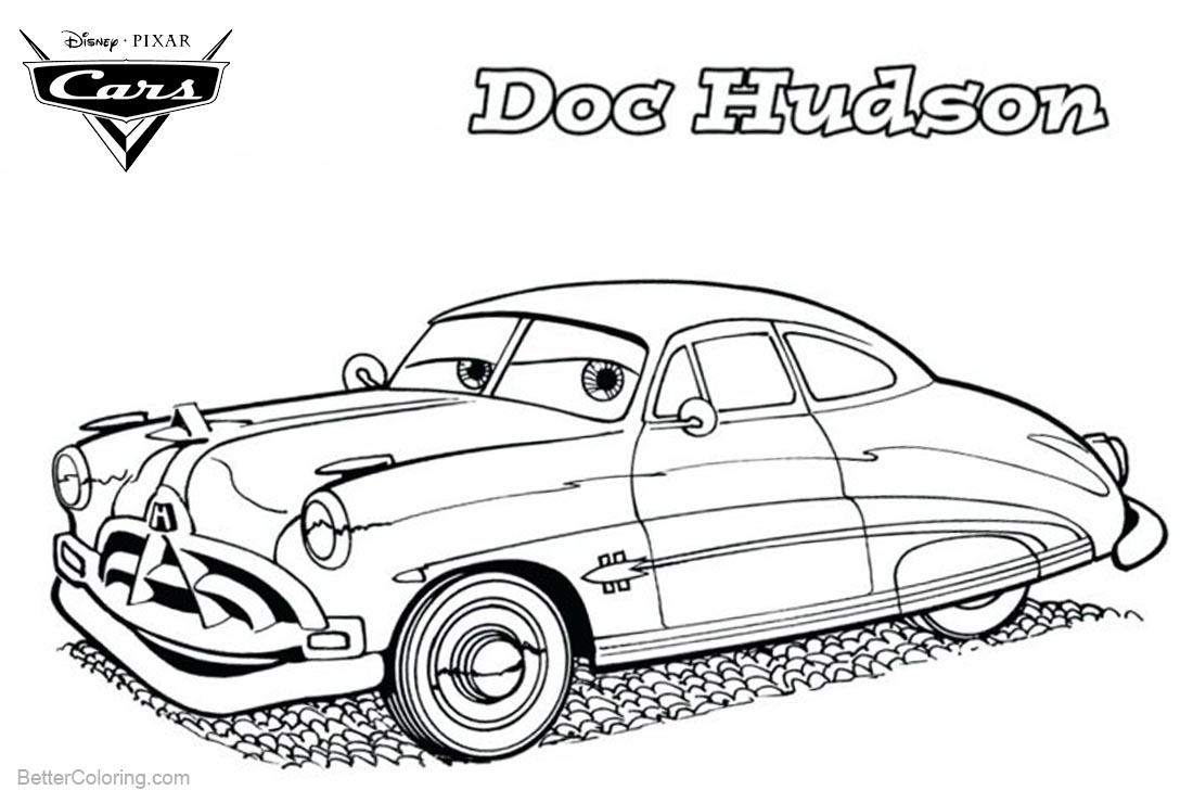 Ausmalbilder Cars Doc Hudson