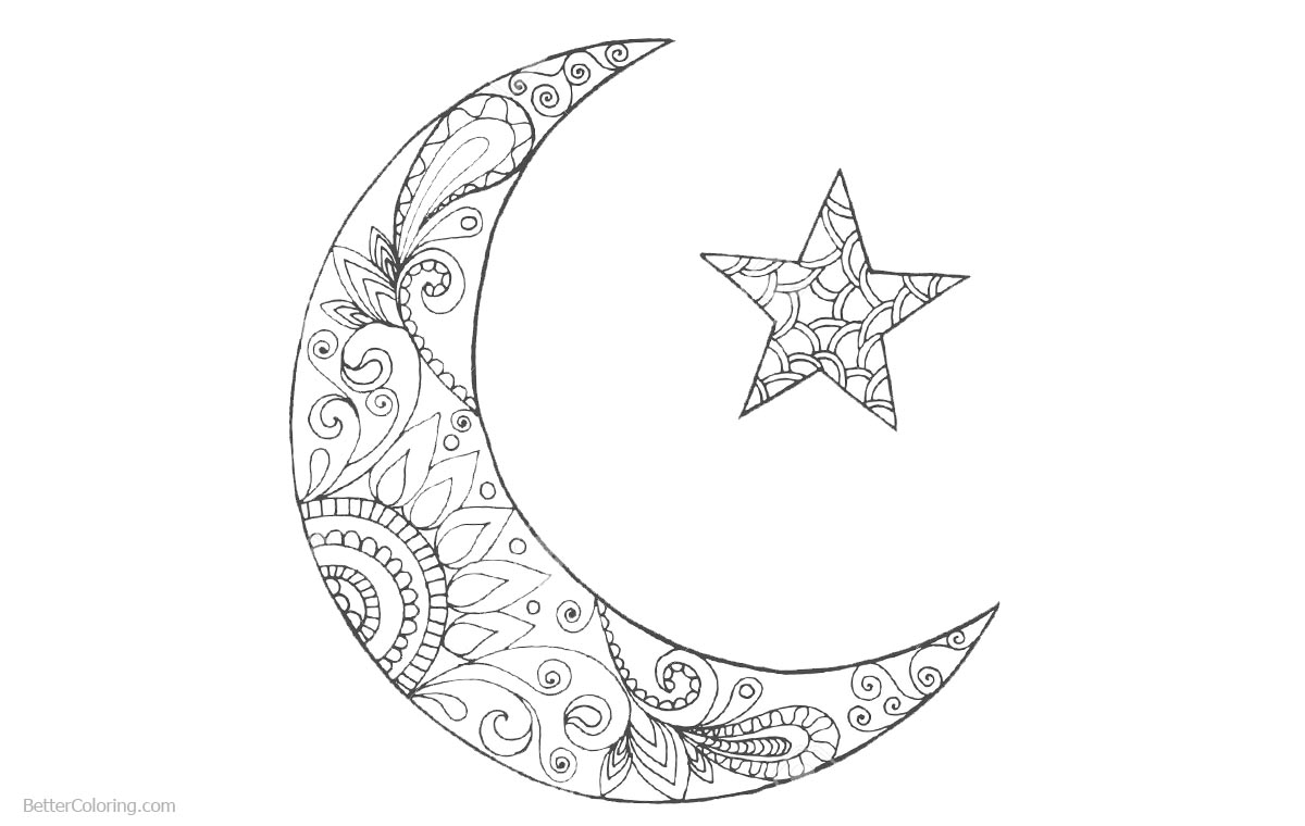 best colouring pages for hari raya ramadan colouring pages