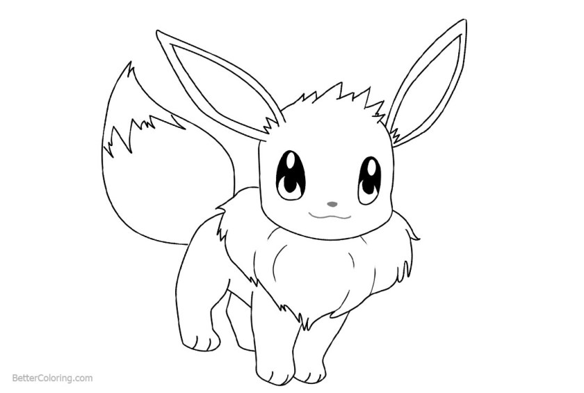 how to draw eevee coloring pages  free printable coloring