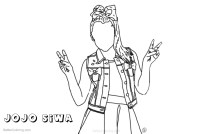 Jojo Siwa Crew Coloring Page Pages Sketch Coloring Page