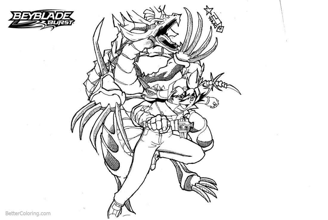 Beyblade Burst Coloring Pages Arenda Stroy