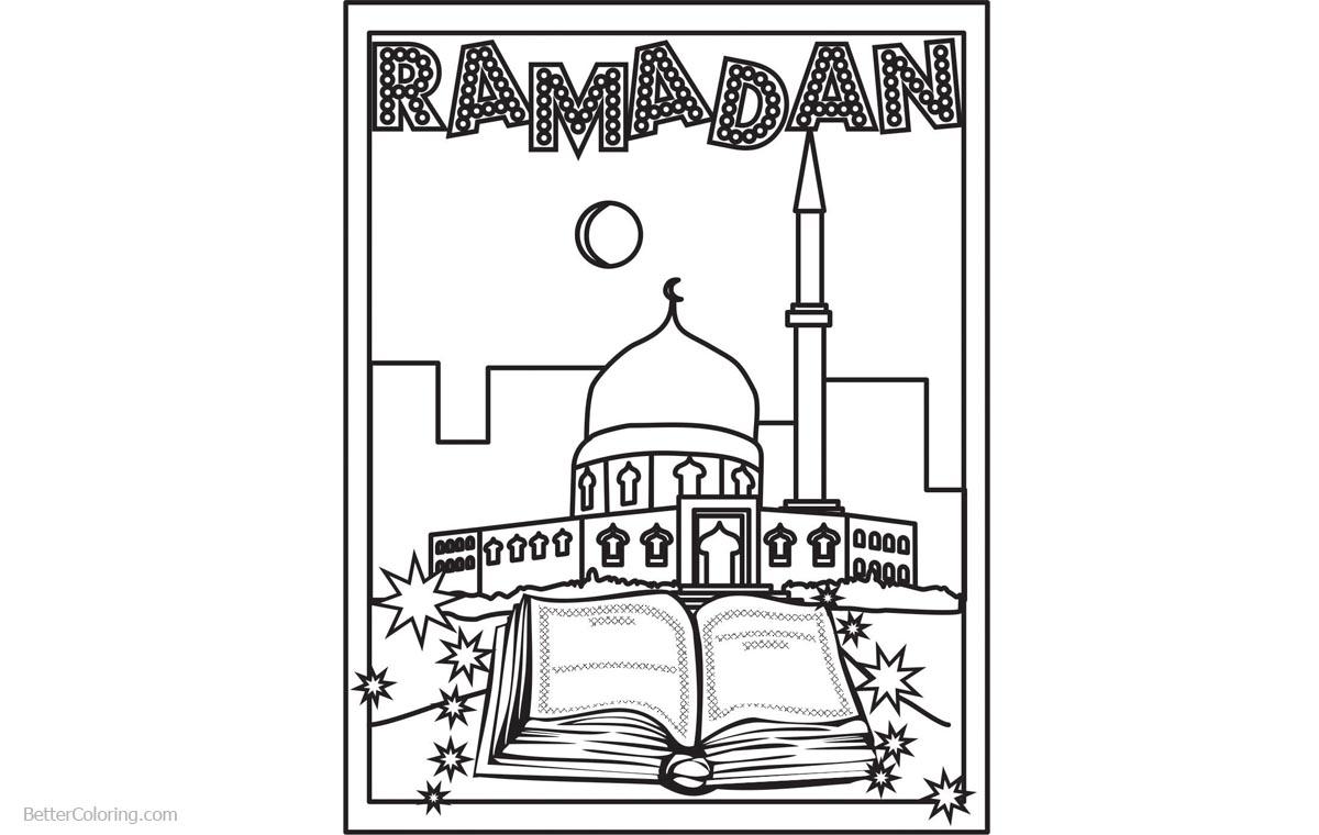 comfortable colouring pages for hari raya ramadan