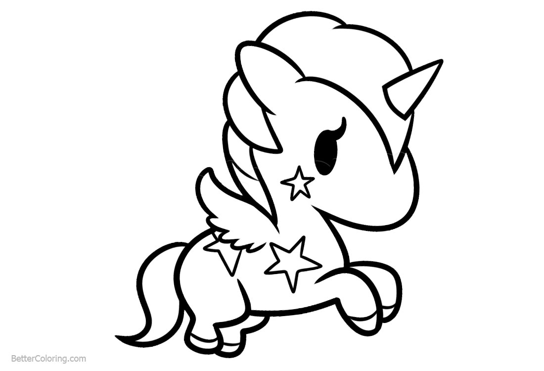 Chibi Unicorn Girl Coloring Pages