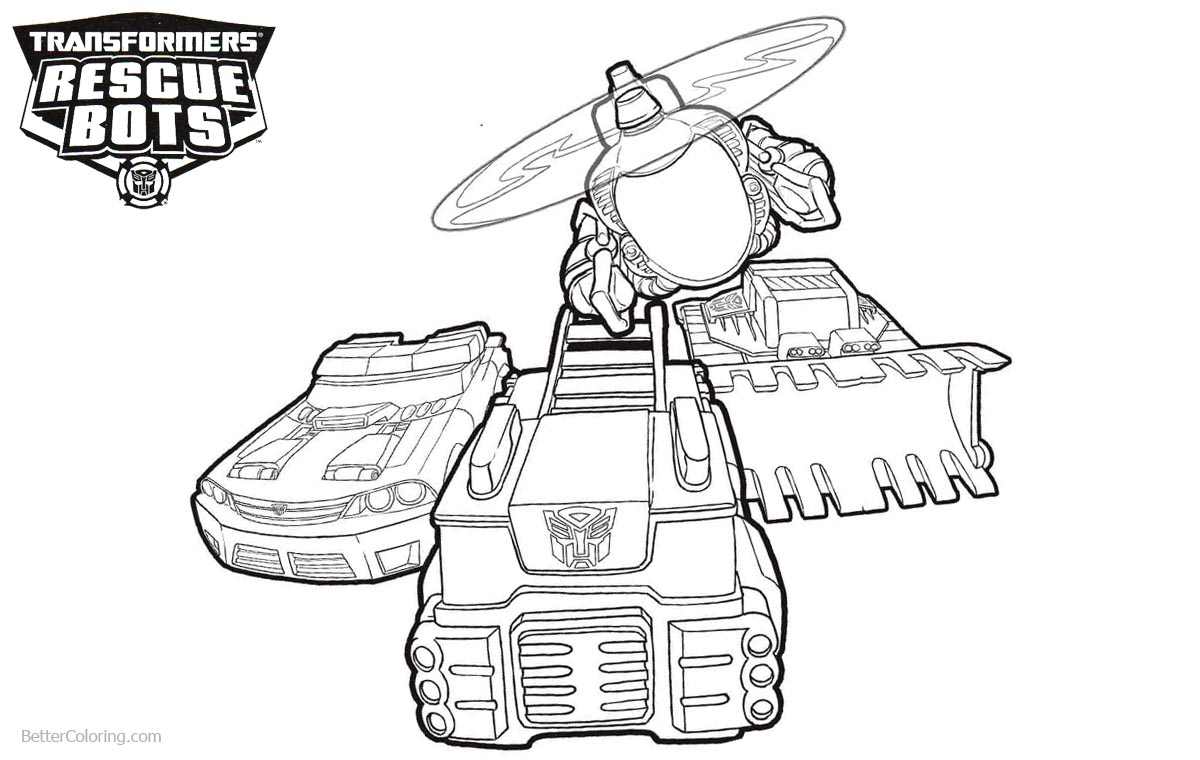 Transformers Rescue Bots Coloring Pages Vehicles Free