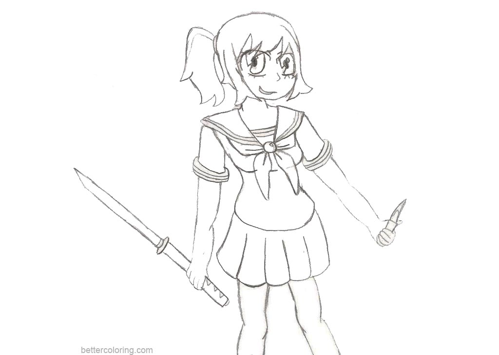 yandere simulator coloring pages.html