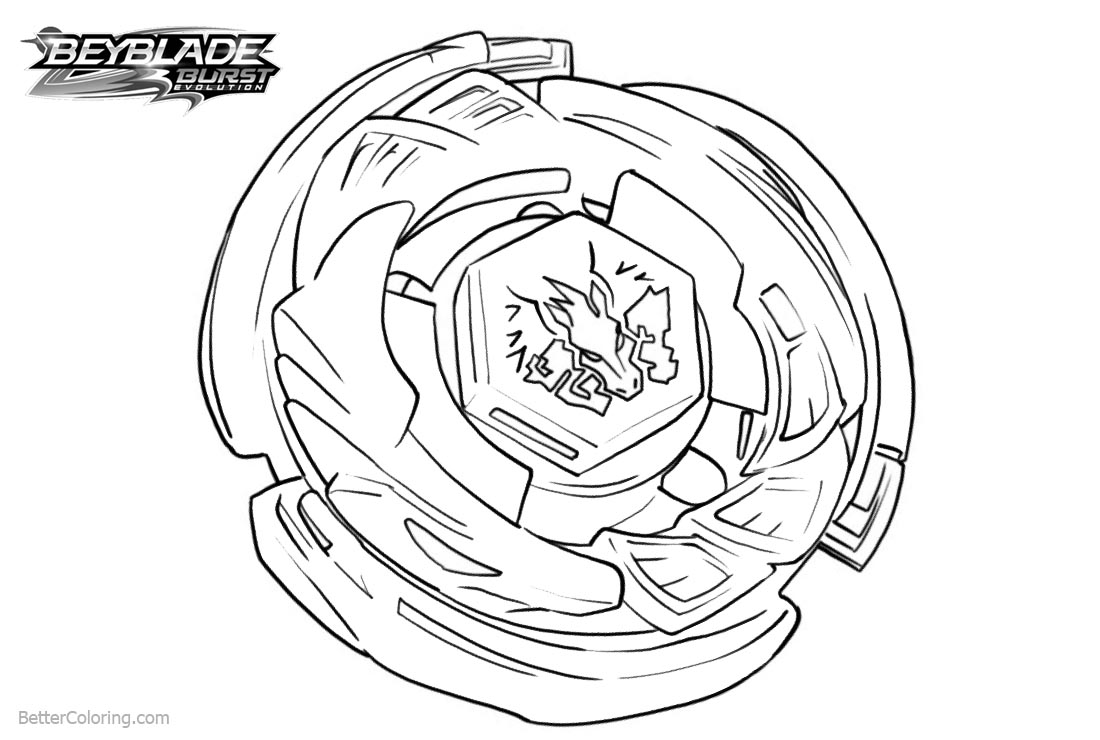 Beyblade Burst Evolution Coloring Pages Beyblade Burst