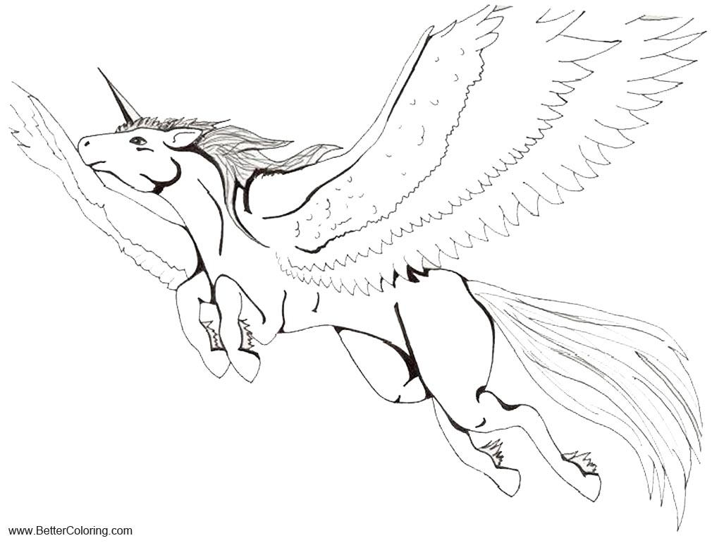 Alicorn Lineart Base By Manic