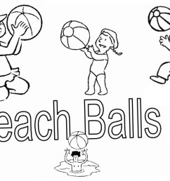 free beach ball coloring pages clipart printable for kids and adults  [ 1100 x 740 Pixel ]