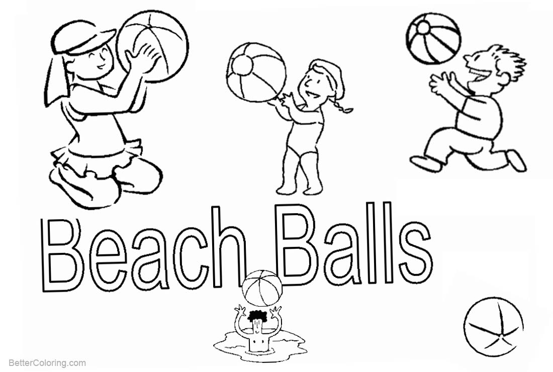 hight resolution of free beach ball coloring pages clipart printable for kids and adults
