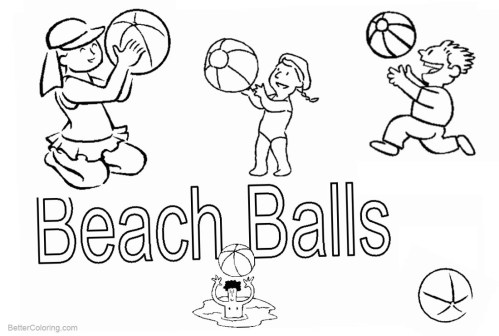small resolution of free beach ball coloring pages clipart printable for kids and adults