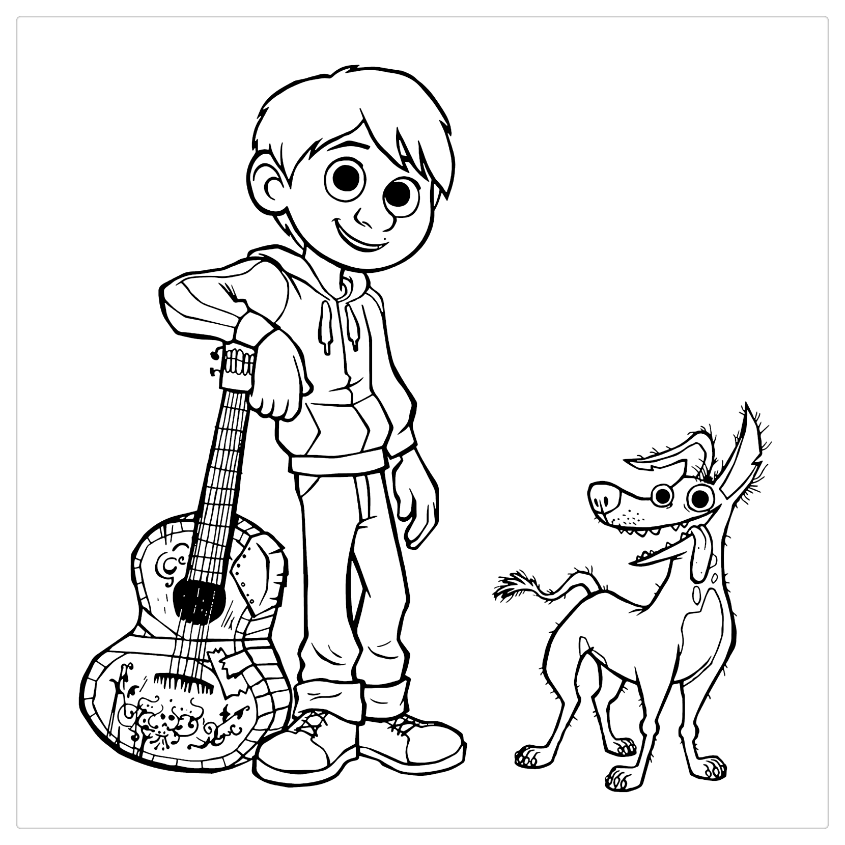 Characters From Coco Coloring Pages