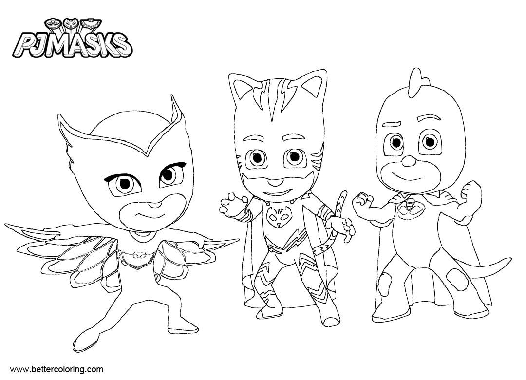 cozy top 10 desenhos para colorir dos pj masks herois de