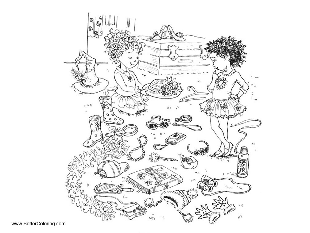 Fancy Nancy Coloring Pages Play Toys With Friends Auto