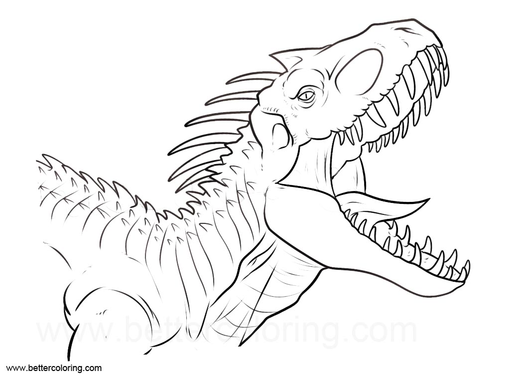 Coloriage Jurassic World Mosasaurus.Jurassic World Coloring Pages Indoraptor