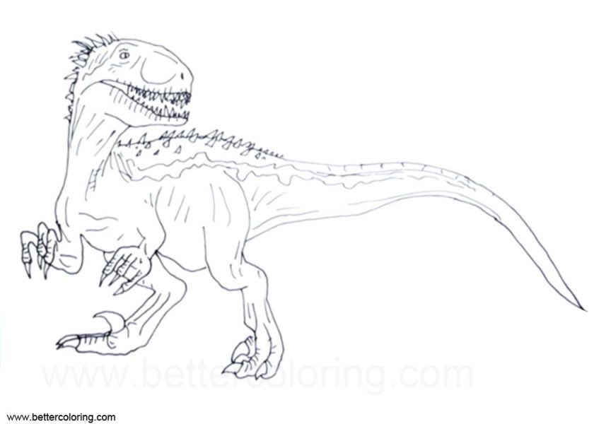 jurassic world indoraptor coloring pages clipart  free
