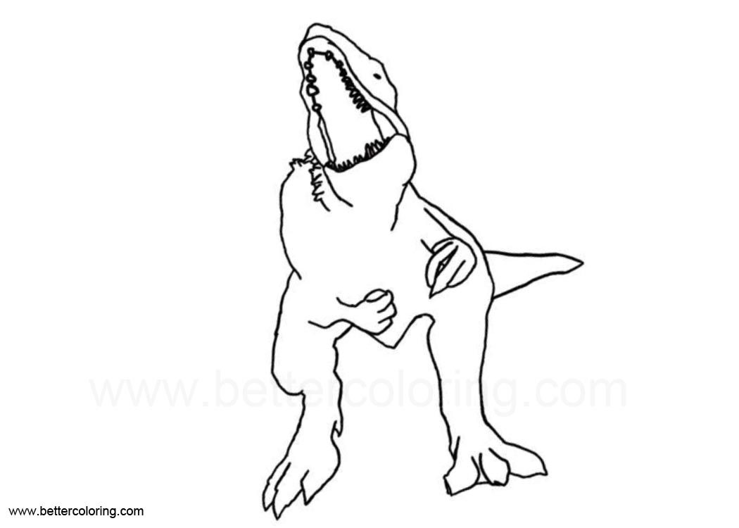 Coloriage Jurassic World Mosasaurus.Coloriage Jurassic World 2 Indoraptor Jeux De Coloriage
