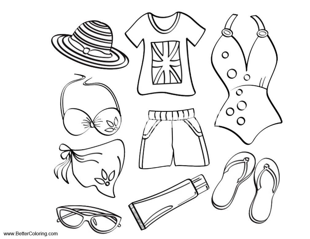 summer clothes coloring pages democraciaejustica
