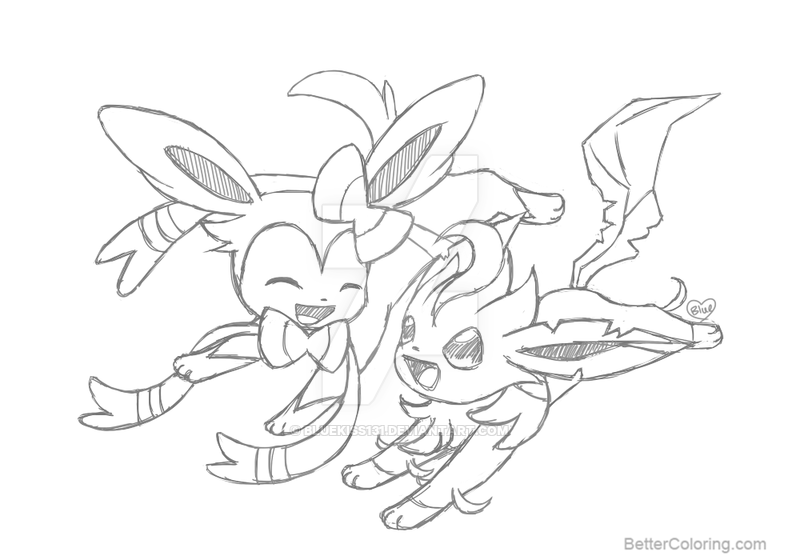 Pokemon Sylveon Coloring Pages Arenda Stroy