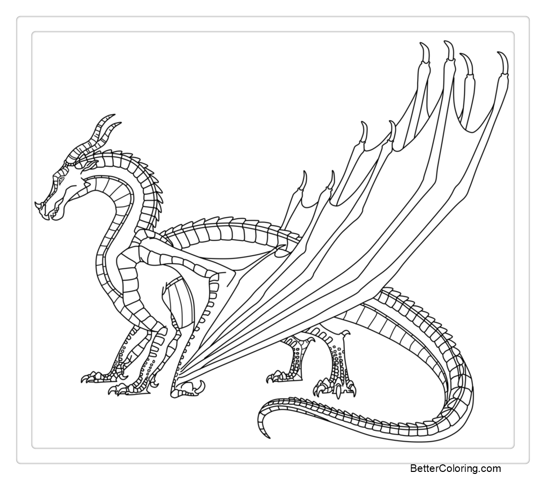 Wings of Fire Coloring Pages Fan Art by LunarNightmares981
