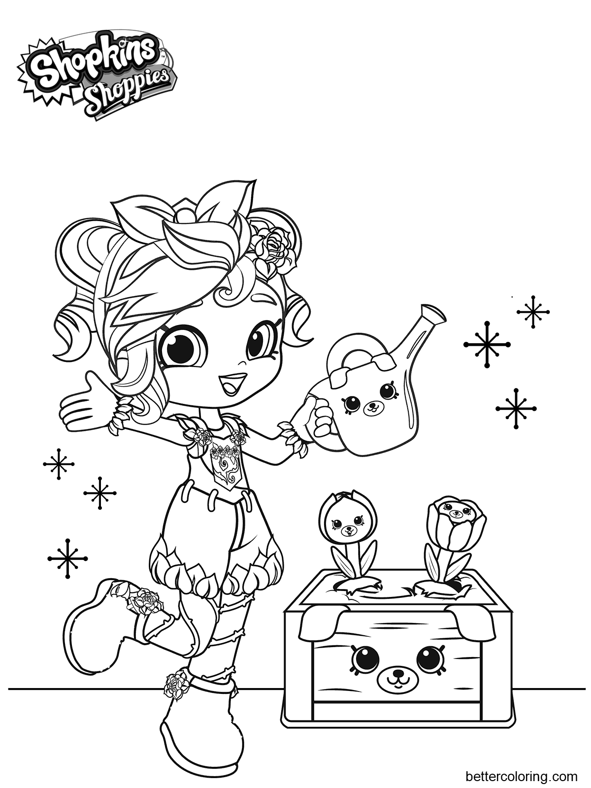Girly Shoppies Coloring Pages Free Printable Coloring Pages