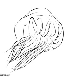 free jellyfish coloring pages clipart printable for kids and adults  [ 1024 x 770 Pixel ]
