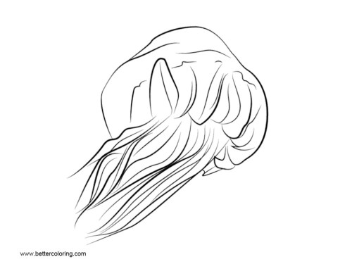 small resolution of free jellyfish coloring pages clipart printable for kids and adults