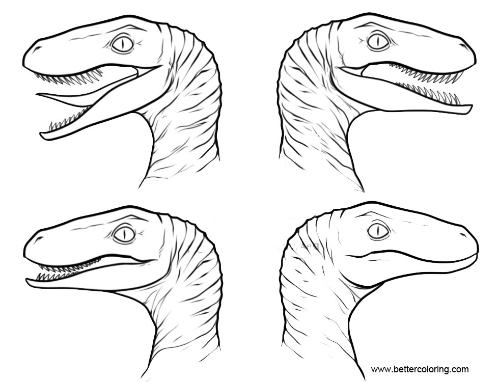 jurassic world coloring pages velociraptor - photo#22
