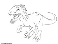 jurassic world coloring pages pdf | Jurassic World Coloring Pages Indoraptor Pdf Free