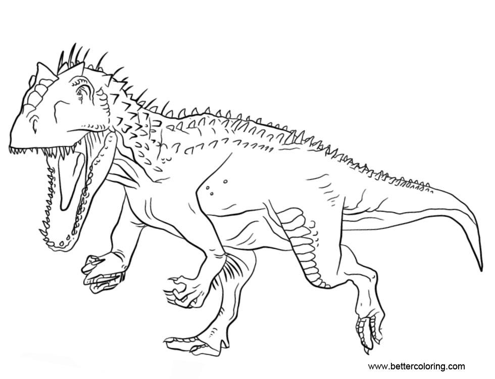 Indominus Rex Coloring Pages Ofertasvuelo