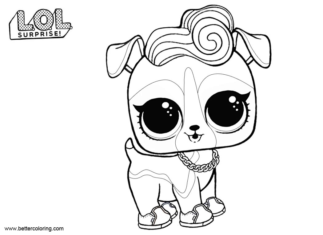 Lol pets coloring pages dj k9 free printable coloring pages