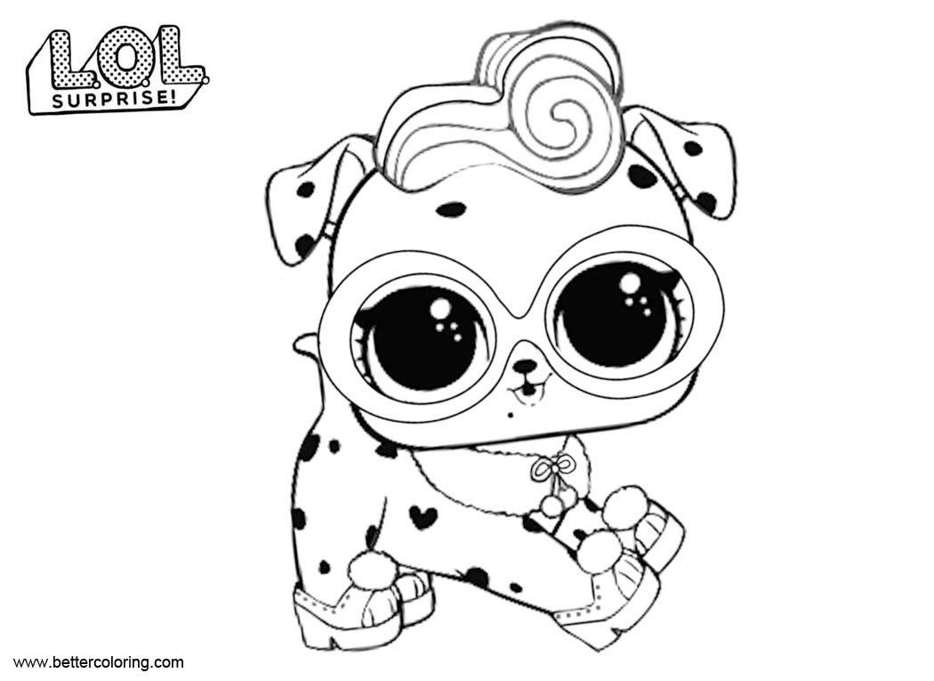 Lol pets coloring pages dollmatian free printable