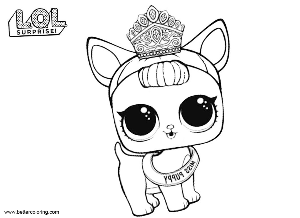 Comfortable hop hop from lol surprise pets coloring pages free