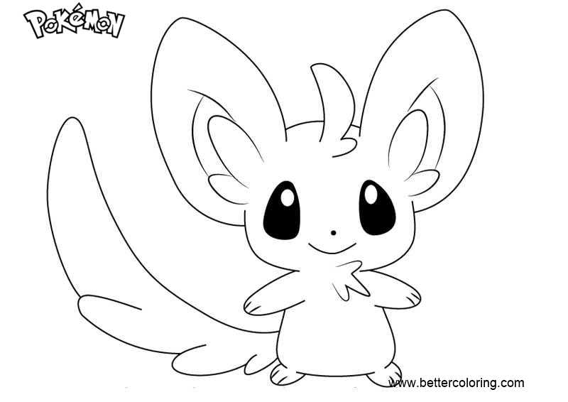 Minccino Pokemon Coloring Page