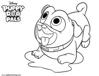 Puppy Dog Pals Coloring Pages Wait for Food - Free ...