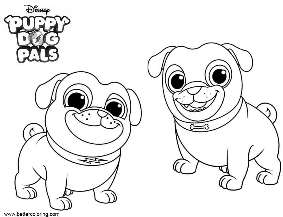 best the puppy dog pals bingo e rolly imagens para colorir